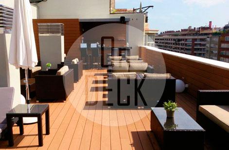 piezas On-deck sobre terraza